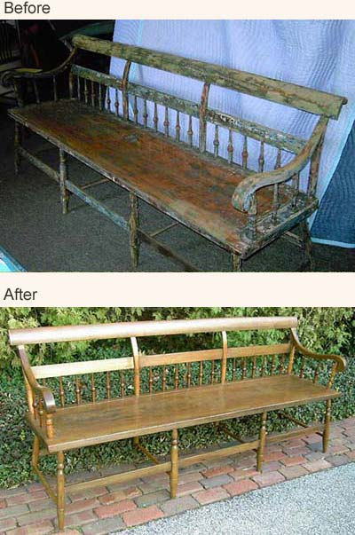 Examples of Furniture Refinishing, Repair & Restoration.