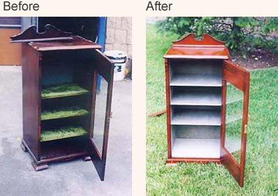 Wooden Bench; Refurbished Cabinet   Furniture Restoration ...